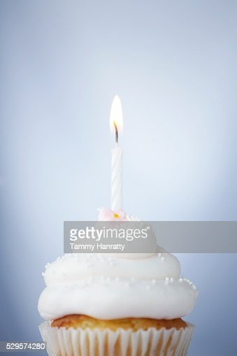 Birthday Cupcake : Stock Photo