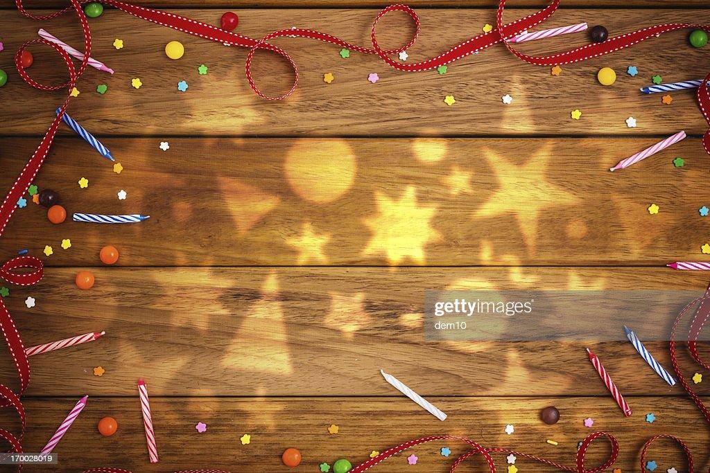 Birthday decoration : Stock Photo
