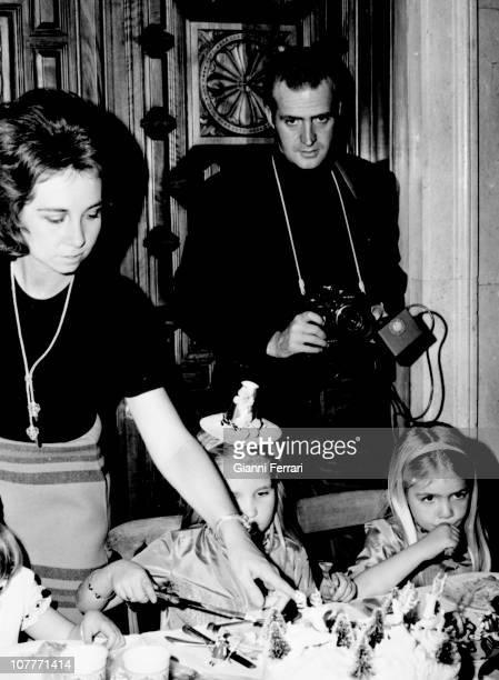 Birthday of Elena daughter of the Princes Juan Carlos of Borbon and Sofia of Greece princess Sofia of Greece Elena the prince Juan Carlos of Borbon...