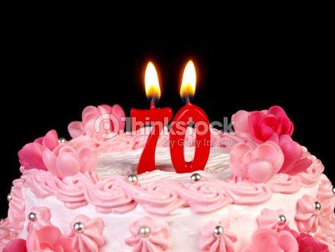 Torta Di Compleanno Anniversario Nr 70 Foto Stock Thinkstock