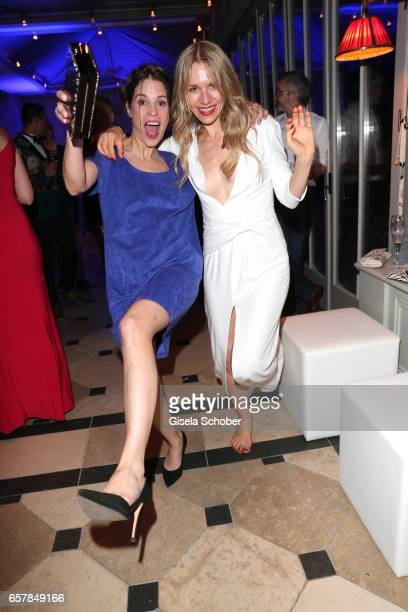 Birthe Wolter and Julia Dietze dance during the Gala Spa Awards at Brenners ParkHotel Spa on March 25 2017 in BadenBaden Germany