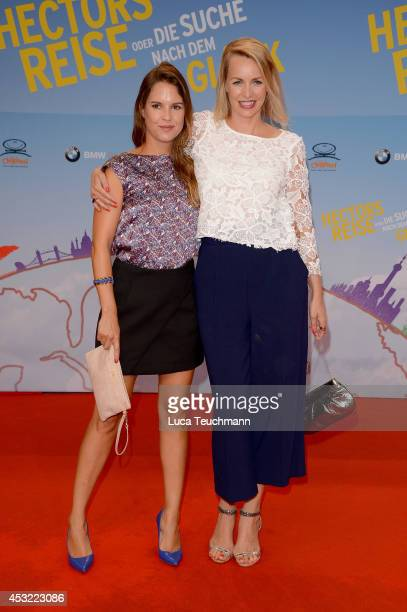 Birthe Wolter and Simone Hanselmann attend the premiere of the film 'Hector and the Search for Happiness' at Zoo Palast on August 5 2014 in Berlin...