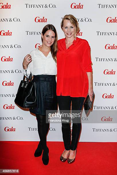 Birthe Wolter and Simone Hanselmann attend the Tiffany Gala Host 'Streetstyle Meets Red Carpet' Event on October 08 2014 in Berlin Germany