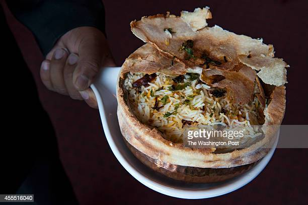 Biryani Chicken is photographed at London Curry House September 9 2014 in Alexandria VA
