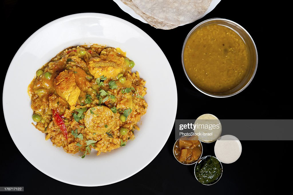 Biryani rice with chicken