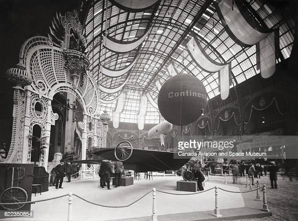 Bis monoplane designed by Robert Esnault Pelterie at the 1909 Exposition Internationale de la Locomotion Aerienne at the Grand Palais in Paris