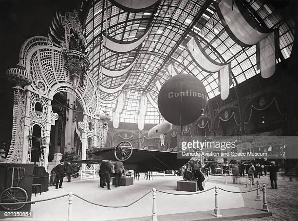 Bis monoplane designed by Robert Esnault Pelterie at the 1909 Exposition Internationale de la Locomotion Aerienne at the Grand Palais in Paris