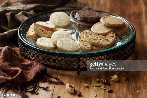 Biscotti and Different Shortbread Cookies
