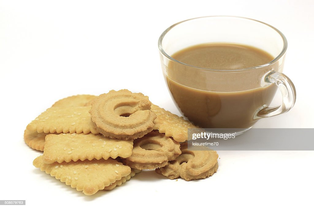 biscuit and cookie with coffee : Stockfoto