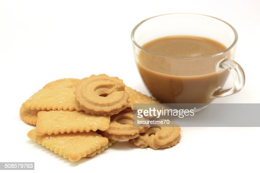 biscuit and cookie with coffee : Stock Photo