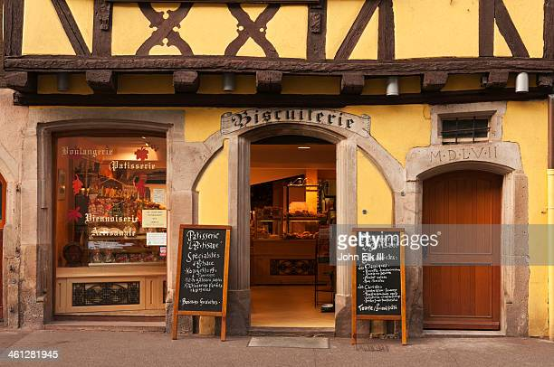 Biscuit store in half-timbered building