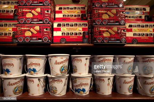 Biscuit tins, Fortnum and Mason.