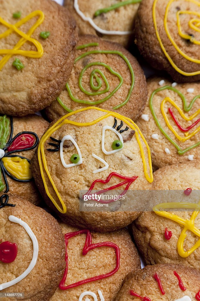 Biscuits or Cookies with Frosting or Icing : Stock Photo