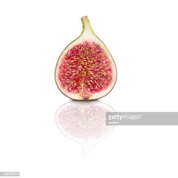 bisected fig with clipping path