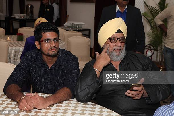 Bishan Singh Bedi former Indian cricketer during a charity fashion show and dinner organisedd to support the widows of debtridden farmers who...