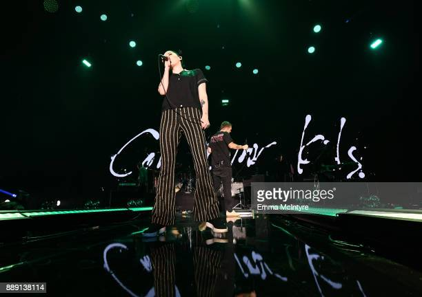 Bishop Briggs performs onstage with Cold War Kids during KROQ Almost Acoustic Christmas 2017 at The Forum on December 9 2017 in Inglewood California