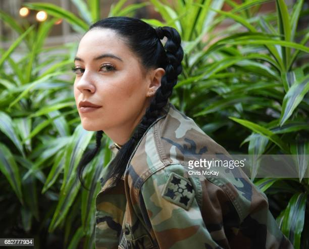 Bishop Briggs poses for portraits after her performance at Shaky Knees Music Festival at Centennial Olympic Park on May 13 2017 in Atlanta Georgia