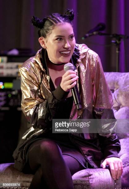 Bishop Briggs speaks onstage at Spotlight Bishop Briggs at The GRAMMY Museum on August 21 2017 in Los Angeles California