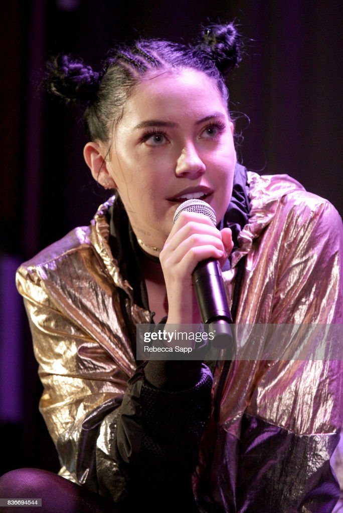 Bishop Briggs speaks onstage at Spotlight: Bishop Briggs at The GRAMMY Museum on August 21, 2017 in Los Angeles, California.