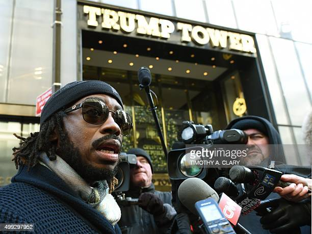 Bishop Dr Victor S Couzens Senior Pastor of the Inspirational Baptist Church arrives at Trump Tower for a meeting with Republican hopeful Donald...