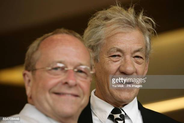 Bishop Gene Robinson and Sir Ian McKellen during a photocall for 'For The Bible Tells Me So' at the Queen Elizabeth Hall Southbank Centre central...