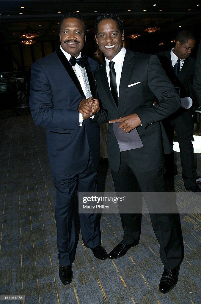 Bishop Kenneth C. Ulmer and actor <a gi-track='captionPersonalityLinkClicked' href=/galleries/search?phrase=Blair+Underwood&family=editorial&specificpeople=215367 ng-click='$event.stopPropagation()'>Blair Underwood</a> attend the Faithful Central Bible Church Event on October 19, 2012 in Century City, California.