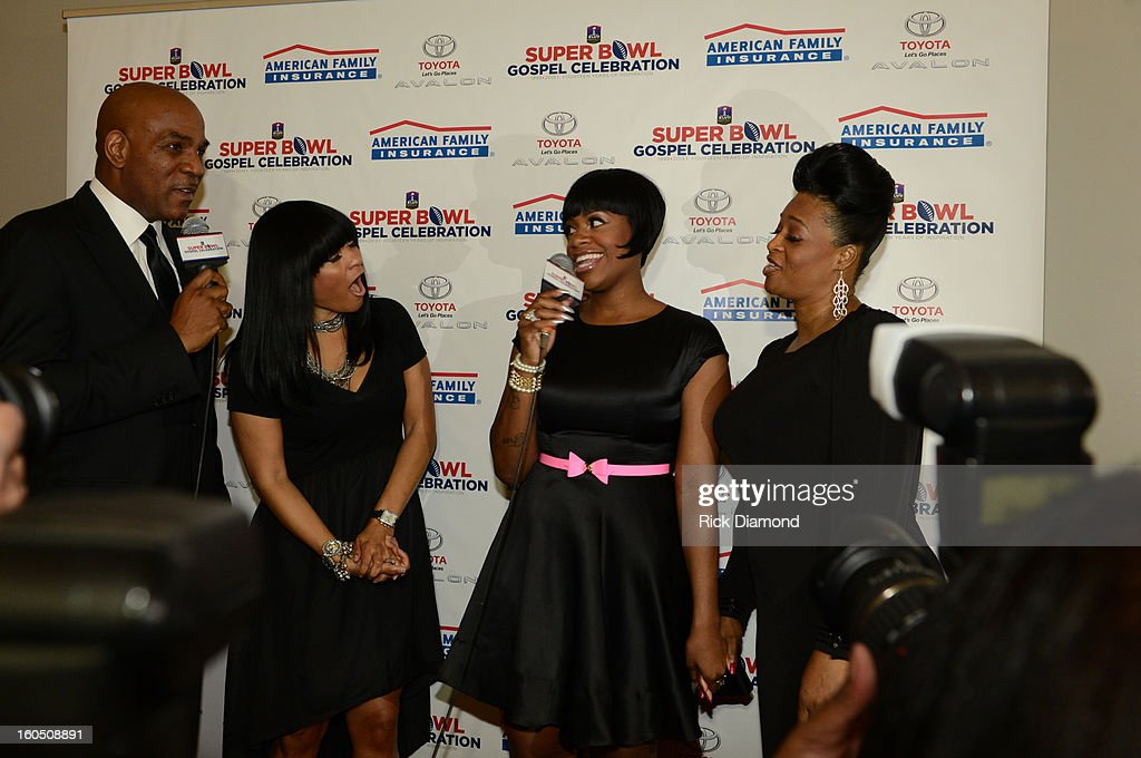 Bishop Love, Angela Young, American Idol winner and Grammy-nominated artist Fantasia and Diana Barrino Barber attend the Super Bowl Gospel 2013 Show at UNO Lakefront Arena on February 1, 2013 in New Orleans, Louisiana.