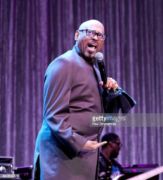 Bishop Paul Morton performs onstage at the 35th Anniversary Mother's Day Weekend Gospelfest 2017 at Prudential Center on May 13 2017 in Newark New...