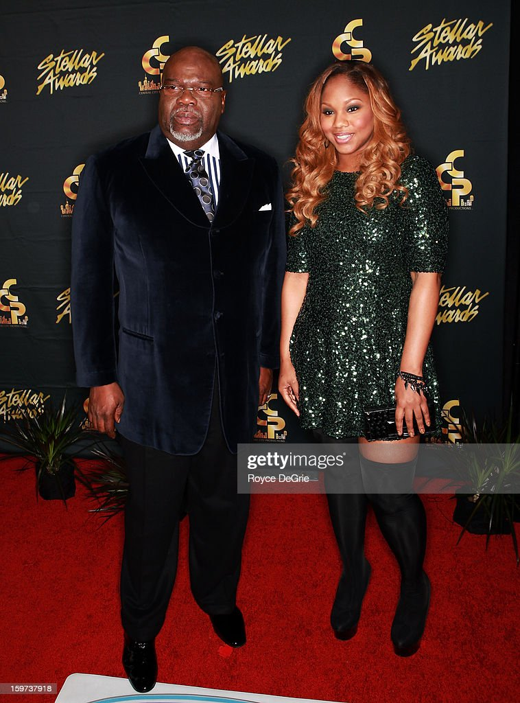 Bishop T.D. Jakes and daughter Sarah Jakes arrive at the 28th Annual Stellar Awards at Grand Ole Opry House on January 19, 2013 in Nashville, Tennessee.