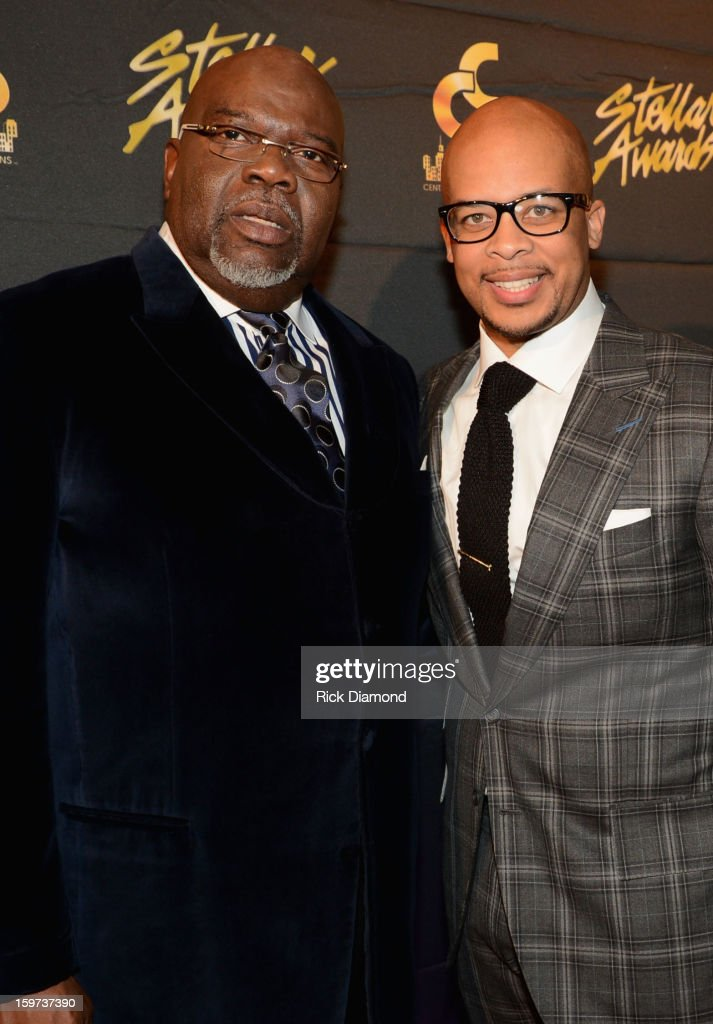 Bishop T.D. Jakes and James Fortune arrive at the 28th Annual Stellar Awards Red Carpet at Grand Ole Opry House on January 19, 2013 in Nashville, Tennessee.