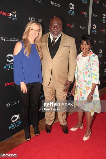 Bishop TD Jakes Cicely Tyson and guest attend the MegaFest 2017 International Faith and Family Film Festival at Omni Hotel on June 30 2017 in Dallas...