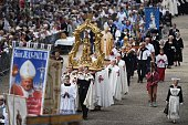 Bishops and faithful attend the 'Grand Pardon' religious procession on July 26 2016 in SainteAnned'Auray western France This Catholic pilgrimage...