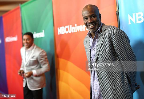 Bishops Clarence McClendon and Noel Jones attend NBCUniversal's 2014 Summer TCA Tour day 2 at The Beverly Hilton Hotel on July 14 2014 in Beverly...
