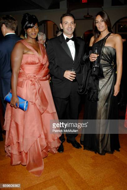 Bisila Bokoko Juan Paredes and Diana Bausecca attend HISPANIC SOCIETY Gala at 583 Park Avenue on October 6 2009 in New York City