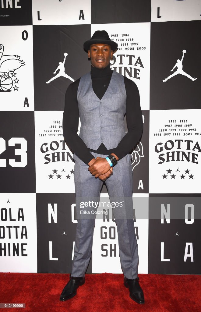 Bismack Biyombo of Orlando Magic attends Jordan Brand: 2017 All-Star Party at Seven Three Distilling Co. on February 17, 2017 in New Orleans, Louisiana.