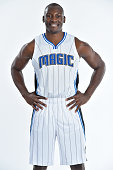 Bismack Biyombo of the Orlando Magic poses for a portrait on July 7 2016 at Amway Center in Orlando Florida NOTE TO USER User expressly acknowledges...