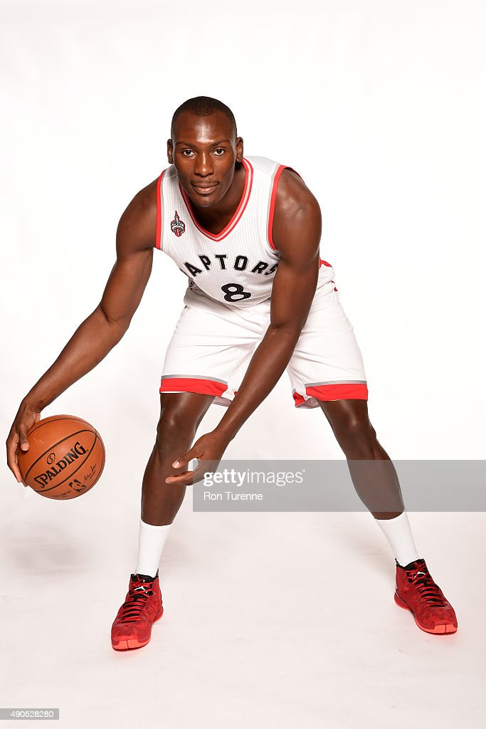 Bismack Biyombo of the Toronto Raptors poses for a photo during media day on September 28 at the Air Canada Centre in Toronto Ontario Canada NOTE TO...