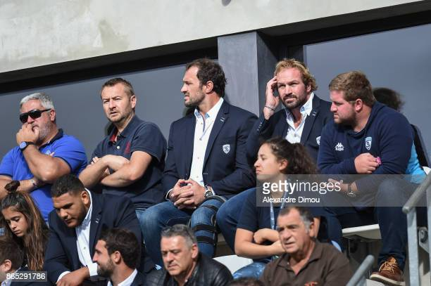 Bismarck and Jannie Du Plessis of Montpellier during the European Champions Cup match between Montpellier and Exeter Chiefs on October 22 2017 in...