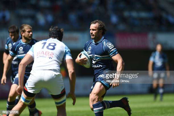 Bismarck Du Plessis of Montpellier during the Top 14 match between Montpellier and Bayonne on April 16 2017 in Montpellier France