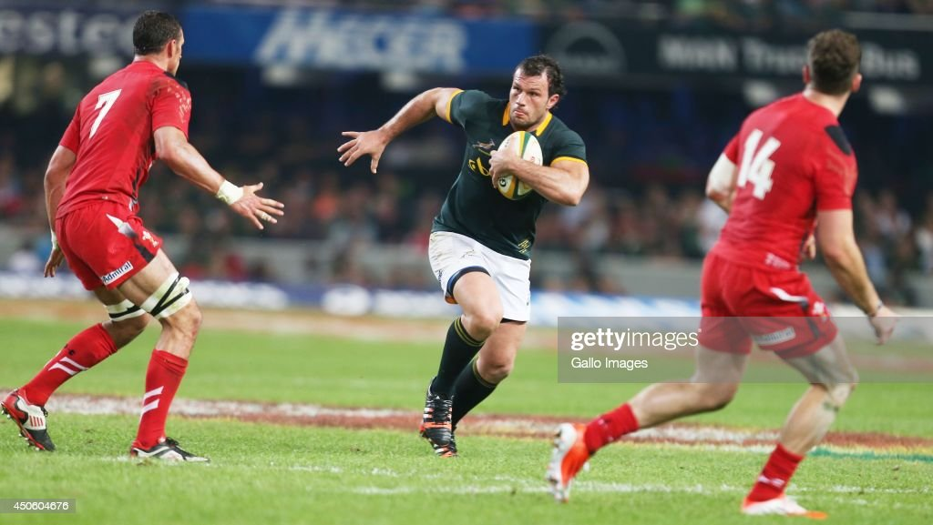 Bismarck du Plessis of South Africa during the Incoming Tour match between South Africa and Wales at Growthpoint Kings Park on June 14, 2014 in Durban, South Africa.