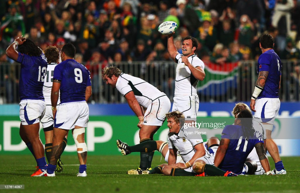 South Africa v Samoa - IRB RWC Match 33