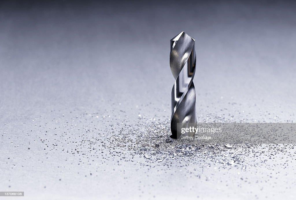 Bit Drilling Through Metal