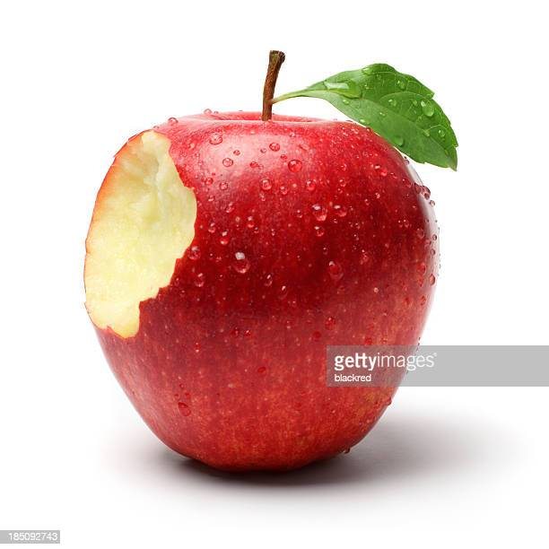 Snack auf einem roten Apfel