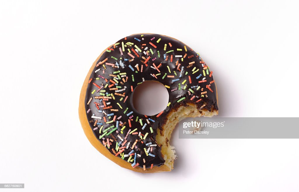 Bite out of doughnut