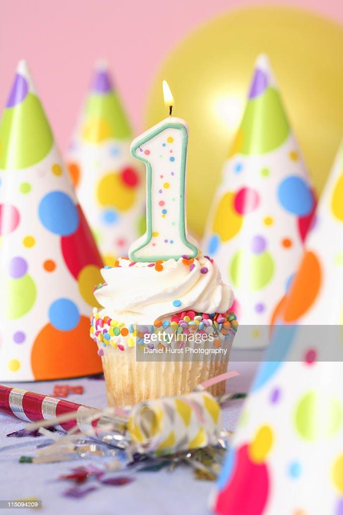 Bithday cupcake : Stock Photo