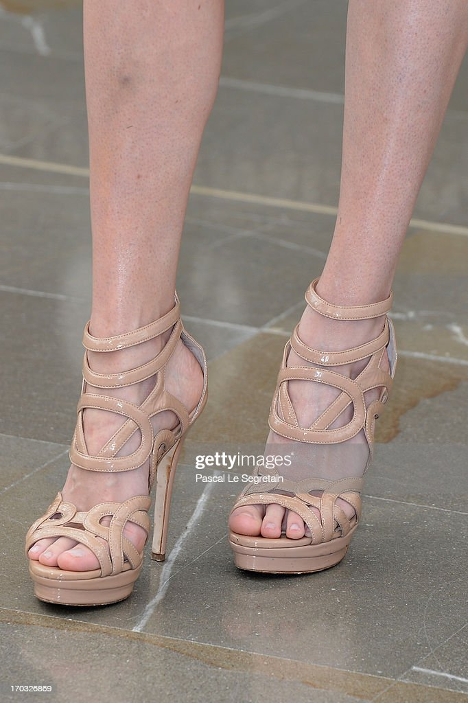 Bitsie Tulloch (shoe detail) poses at a photocall during the 53rd Monte Carlo TV Festival on June 10, 2013 in Monte-Carlo, Monaco.