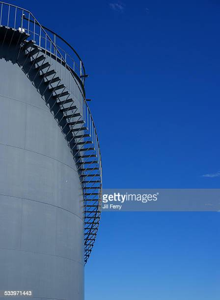 Bitumen storage tank at a bitumen product plant Dunedin New Zealand January 17 2015