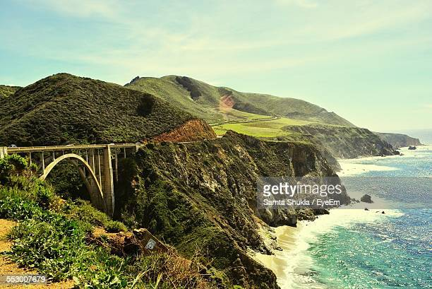 Bixby Creek Bridge On Cliffs