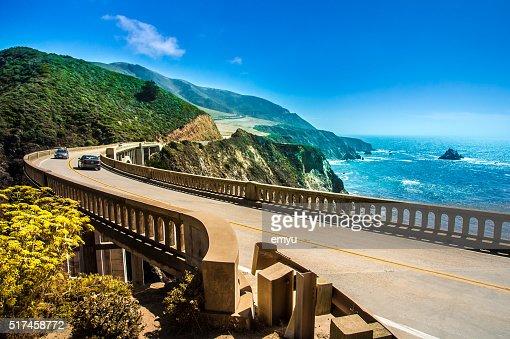 Bixby Creek Bridge on Highway One : Stock Photo