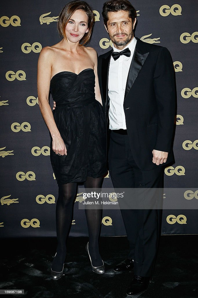 Bixente Lizarazu and Claire Keim attend GQ Men of the year awards 2012 at Musee d'Orsay on January 16, 2013 in Paris, France.